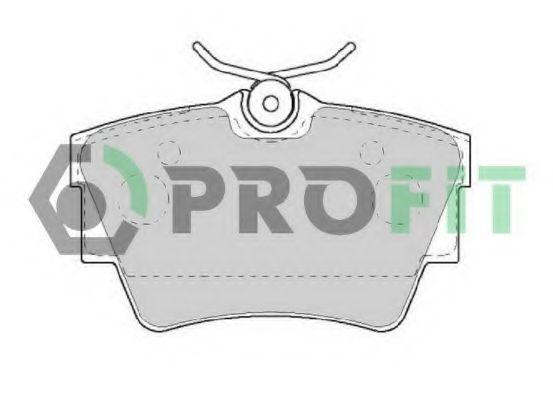 Комплект тормозных колодок, дисковый тормоз PROFIT арт. 50001516