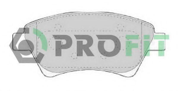 Комплект тормозных колодок, дисковый тормоз PROFIT арт. 50001544C