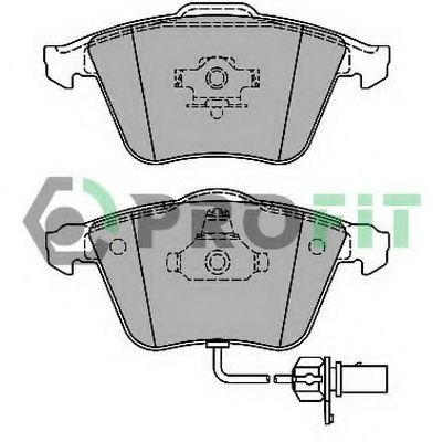 Комплект тормозных колодок, дисковый тормоз PROFIT арт. 50001629