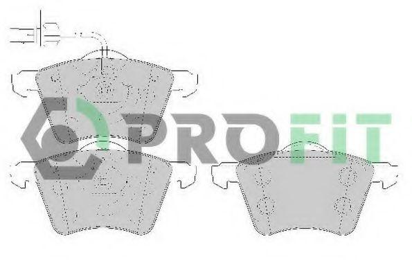 Комплект тормозных колодок, дисковый тормоз PROFIT арт. 50001654