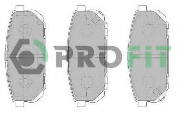 Комплект тормозных колодок, дисковый тормоз PROFIT арт. 50001736