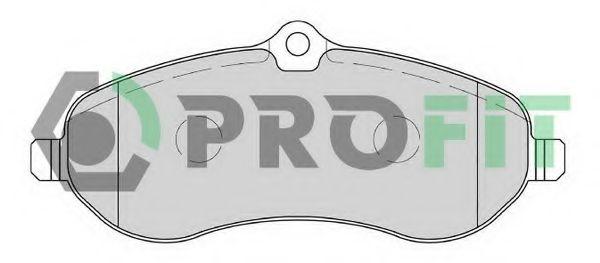 Комплект тормозных колодок, дисковый тормоз PROFIT арт. 50001771