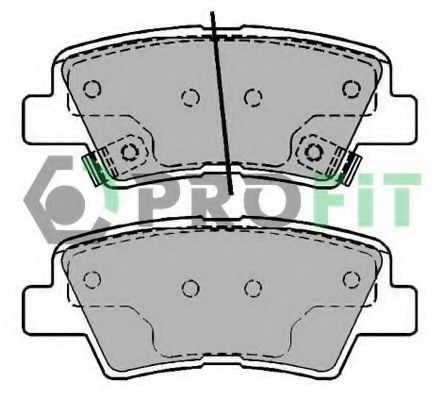 Комплект тормозных колодок, дисковый тормоз PROFIT арт. 50002028