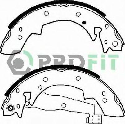 Колодки гальмівні барабанні PROFIT 50010173