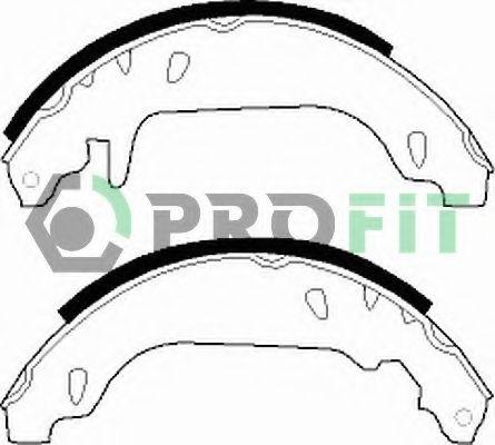 Колодки гальмівні барабанні PROFIT 50010243