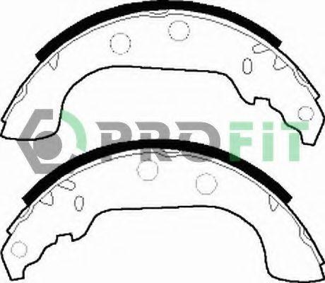 Комплект тормозных колодок PROFIT арт. 50010268