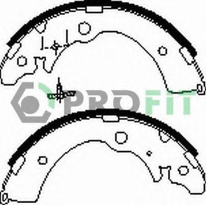 Комплект тормозных колодок PROFIT арт. 50010318