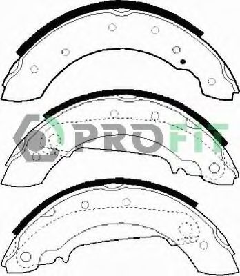 Колодки гальмівні барабанні PROFIT 50010330