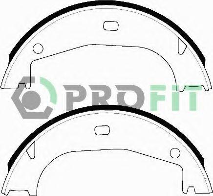 Комплект тормозных колодок PROFIT арт. 50010546