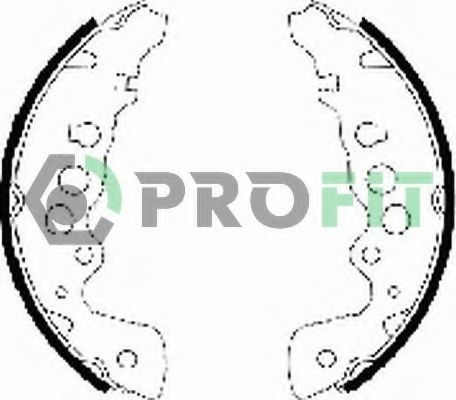 Колодки гальмівні барабанні PROFIT 50010578