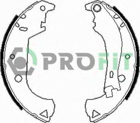 Колодки гальмівні барабанні PROFIT 50010604