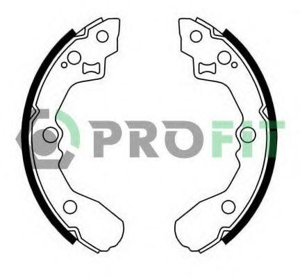Колодки гальмівні барабанні PROFIT 50010612