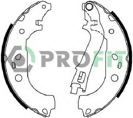 Комплект тормозных колодок PROFIT - 50010676