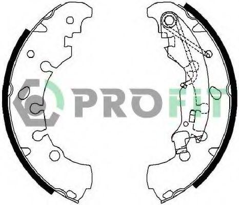 Колодки гальмівні барабанні PROFIT 50010681