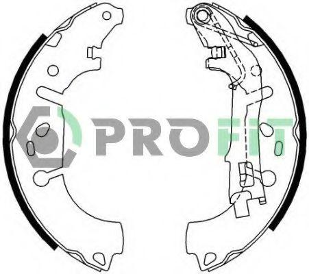 Колодки гальмівні барабанні PROFIT 50010682