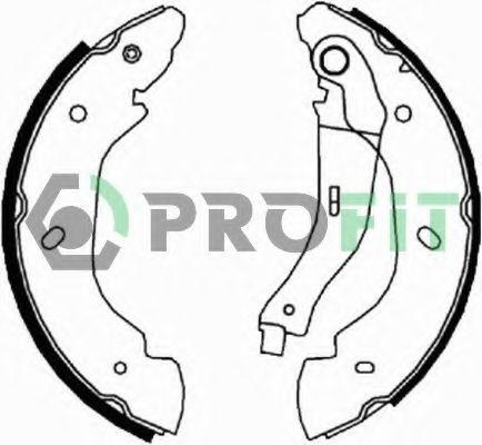 Комплект тормозных колодок PROFIT - 50015960