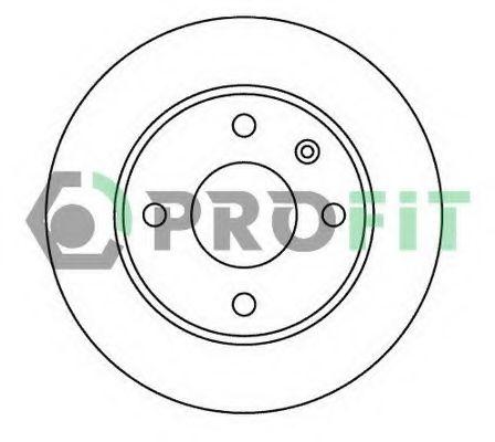 Тормозной диск PROFIT арт. 50100183