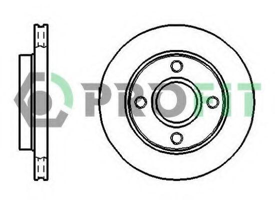 Тормозной диск PROFIT арт. 50100766