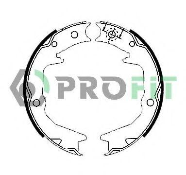 Колодки гальмівні барабанні PROFIT 50010011