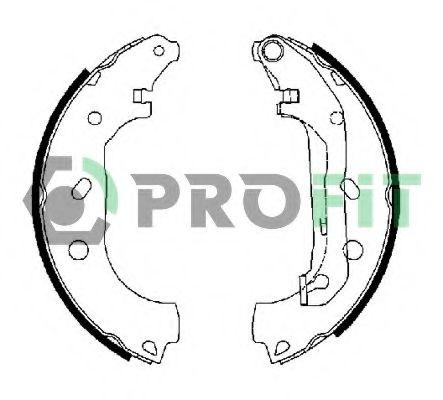 Комплект тормозных колодок PROFIT - 50010648