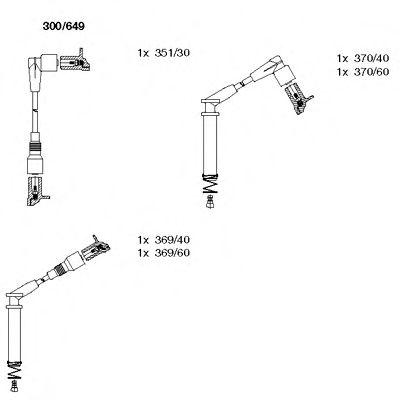 Комплект проводов зажигания BREMI арт.