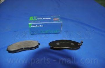 Комплект тормозных колодок, дисковый тормоз PARTSMALL арт. PKA007
