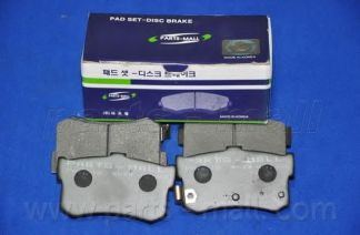 Комплект тормозных колодок, дисковый тормоз PARTSMALL арт. PKA010