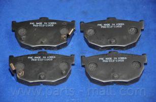 Комплект тормозных колодок, дисковый тормоз PARTSMALL арт. PKA012