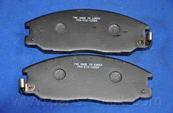Комплект тормозных колодок, дисковый тормоз PARTSMALL арт. PKA016