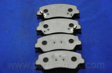Комплект тормозных колодок, дисковый тормоз PARTSMALL арт. PKA049