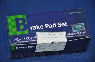 Комплект тормозных колодок, дисковый тормоз PARTSMALL арт. PKAE28