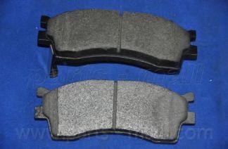 Комплект тормозных колодок, дисковый тормоз PARTSMALL арт. PKB012