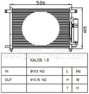 Конденсатор, кондиционер PARTSMALL арт. PXNCC019