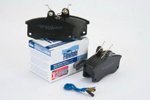 Комплект тормозных колодок, дисковый тормоз FINWHALE арт. V210