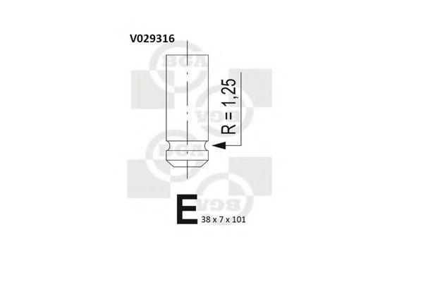 Впускной клапан BGA арт. V029316