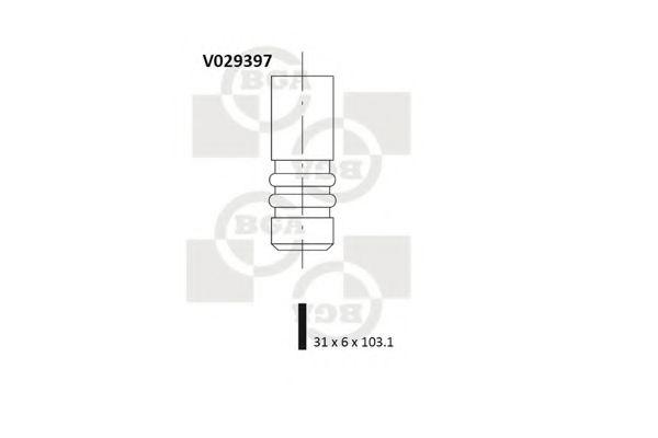 Впускной клапан BGA арт. V029397