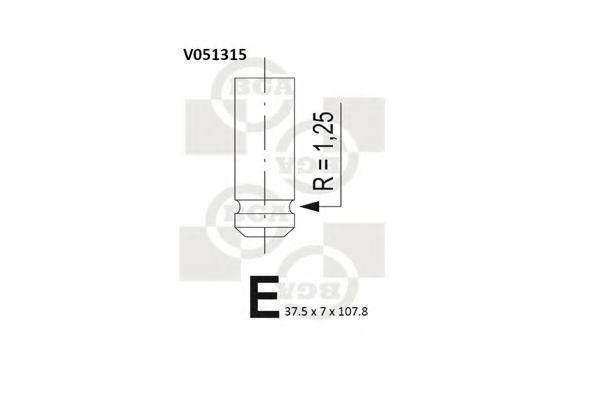 Впускной клапан BGA арт. V051315