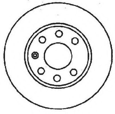 Тормозной диск JURID арт. 561248JC