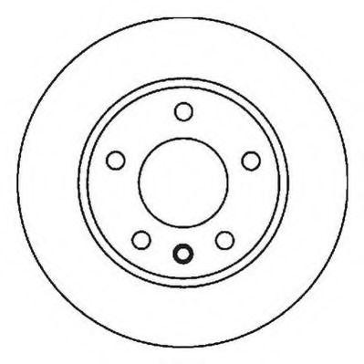 Тормозной диск JURID арт. 562053JC