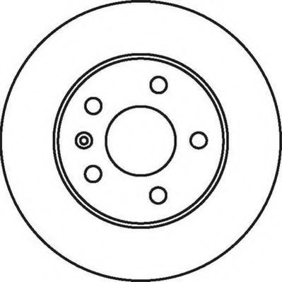 Тормозной диск JURID арт. 562072JC