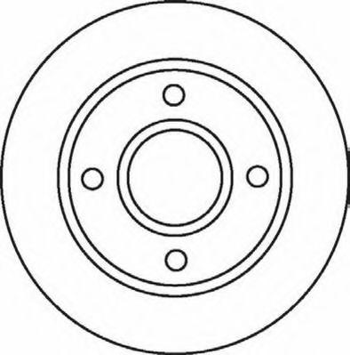Тормозной диск JURID арт. 562078JC