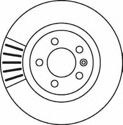 Тормозной диск JURID арт. 562080JC