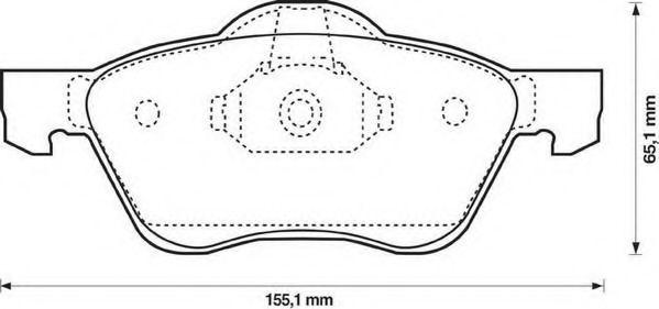 Колодки гальмівні дискові Jurid 572431JAS