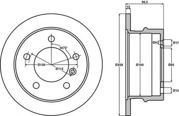 Тормозной диск JURID арт.