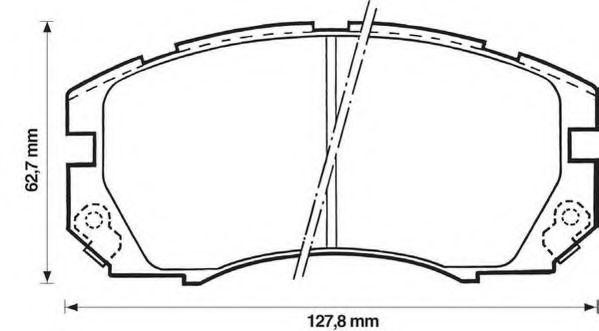 Колодки гальмівні дискові Jurid 572377J