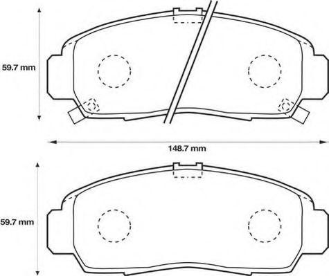 Комплект тормозных колодок, дисковый тормоз JURID арт.