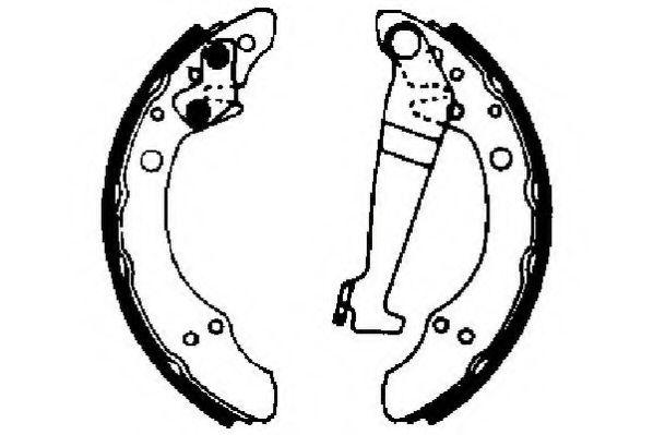 Комплект тормозных колодок JURID арт. 361260J