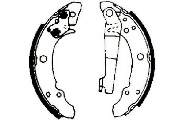 Комплект тормозных колодок JURID арт. 361216J
