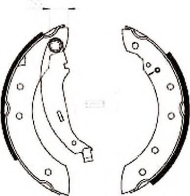 Комплект тормозных колодок JURID арт. 362318J