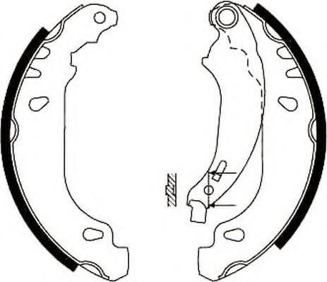 Комплект тормозных колодок JURID арт.